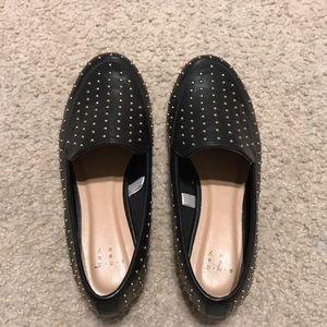 Black Gold Studded Mules